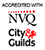 Accredited with NVQ City Guilds